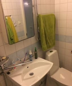 Cosy en-suite room with fast wi-fi and bicycle - Stockholm - Apartment