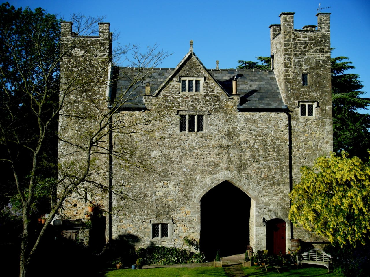 This is the Welsh Gatehouse, a self contained, luxury historic holiday let, built in approx 1270!
