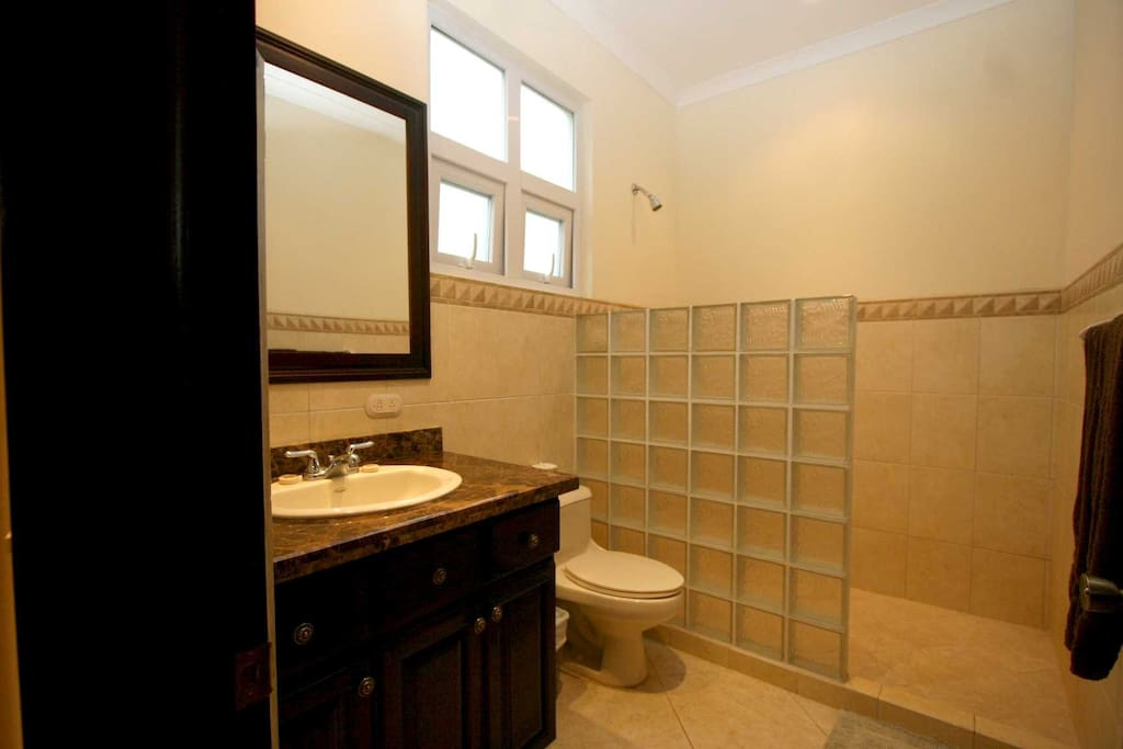 Clean, comfortable bathrooms with hot water.