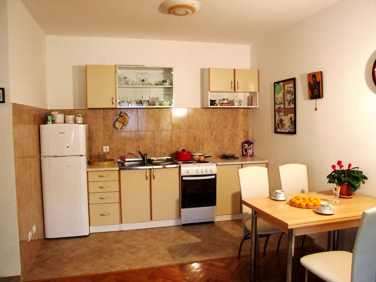kitchen with the dining room
