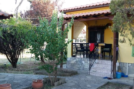 Villa with garden, 750m to the Beach - Apartment