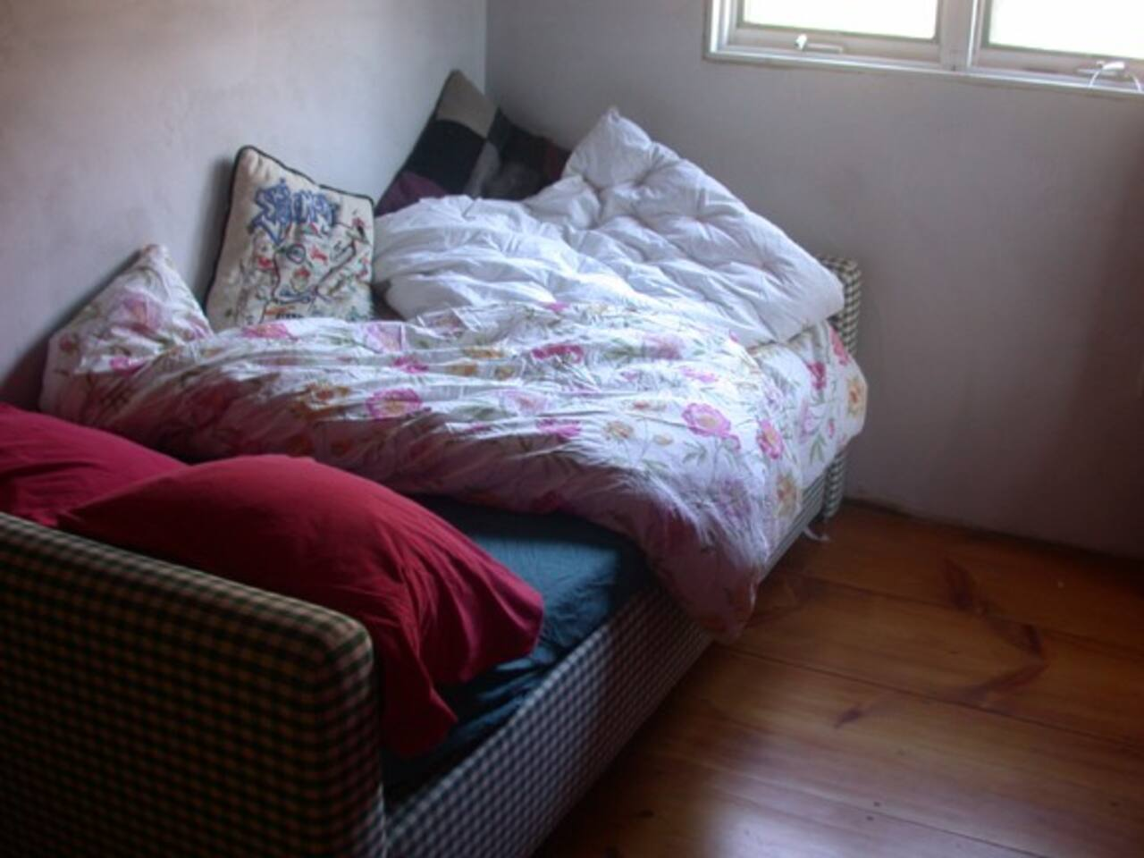 The Secret Room has a comfy, cozy daybed and is loaded with feathery pillows and down comforters.