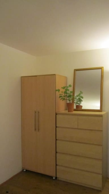Wardrobe and chest of drawers for you to use