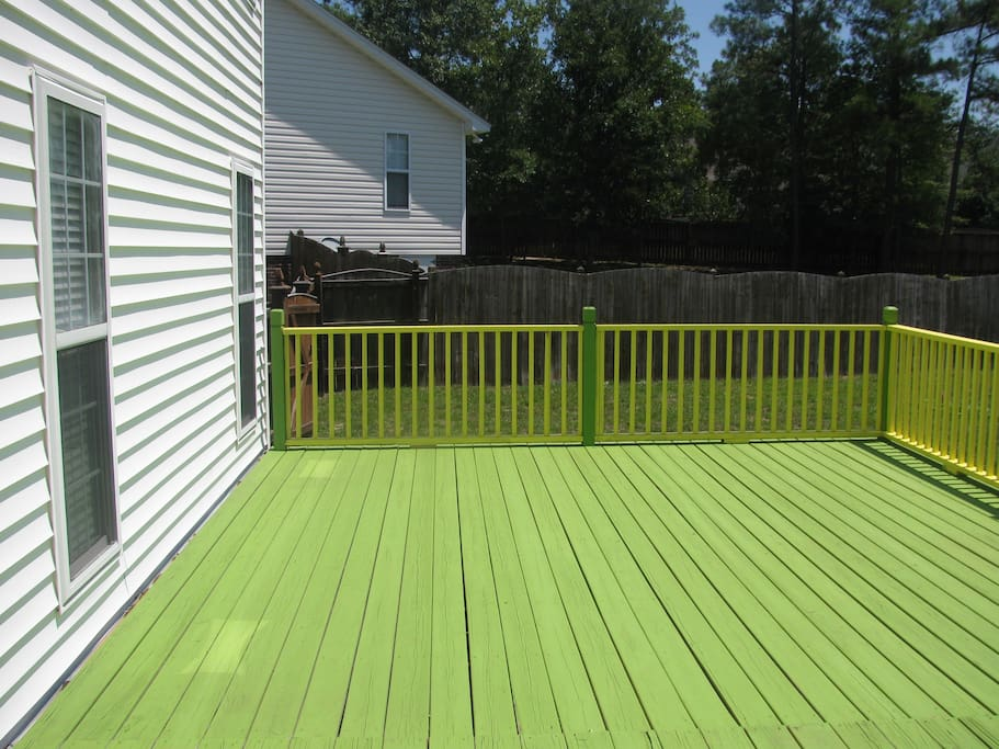 Deck and Backyard