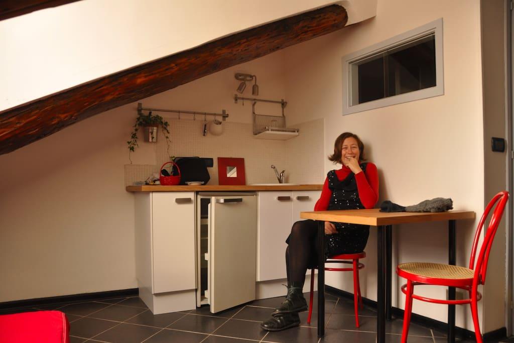 delightful attic under the Mole