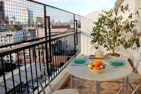 Sunny Terrace Apart. in Downtown BA