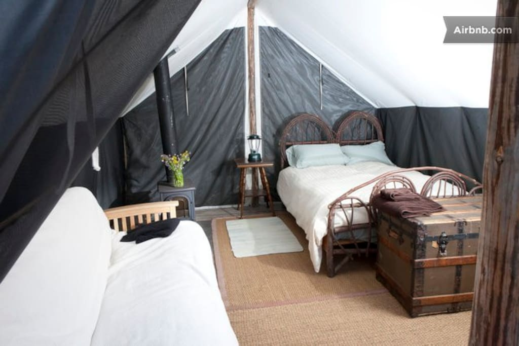 Wwr bluebird 4 person wall tent tents for rent in ashland for Woods prospector tent