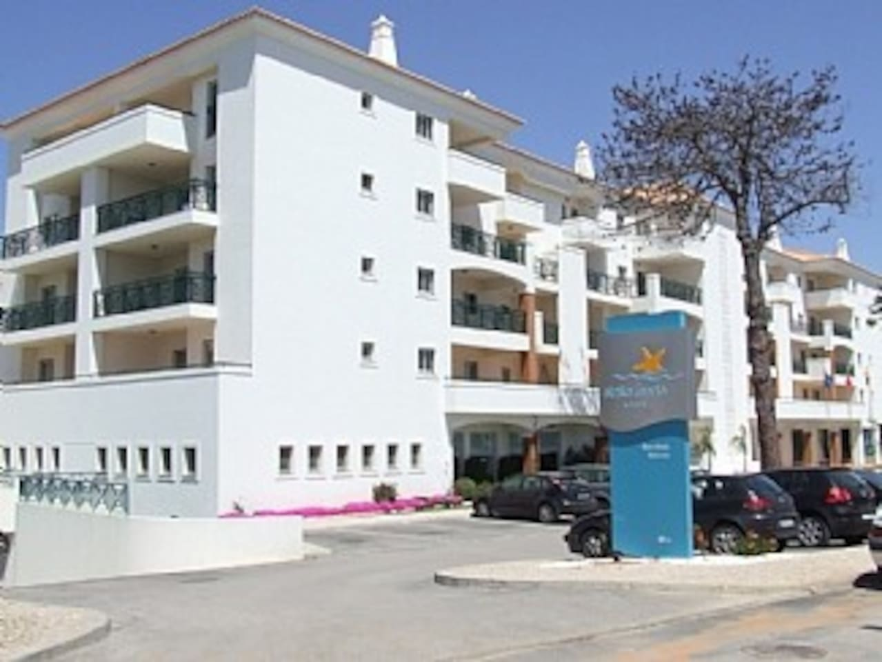 Front View of Stella Maris,The apartment is on the 3rd Floor, just above the brown pillar.