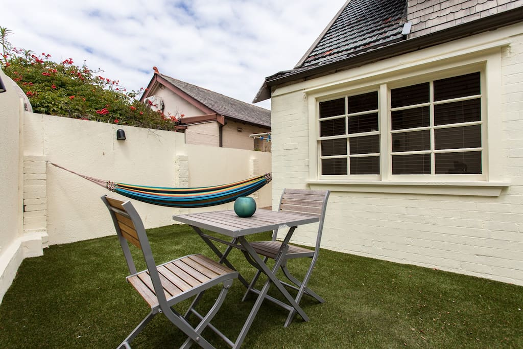 Private rear courtyard for your exclusive use and your own outside access to your room.