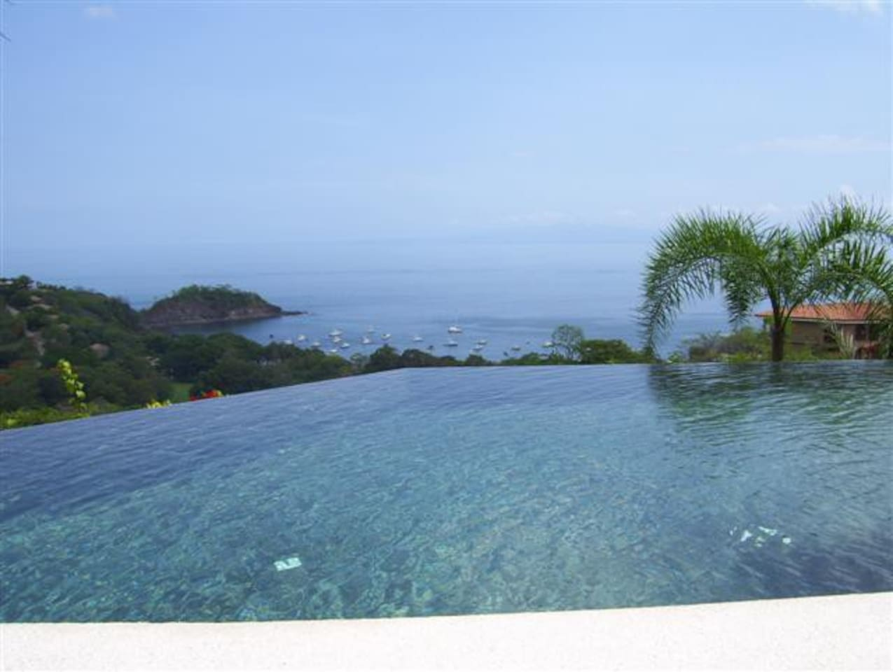 Private pool overlooking Ocotal Bay and the Pacific Ocean.