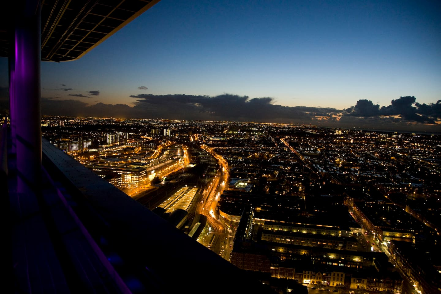 Great views from The Hague Tower!