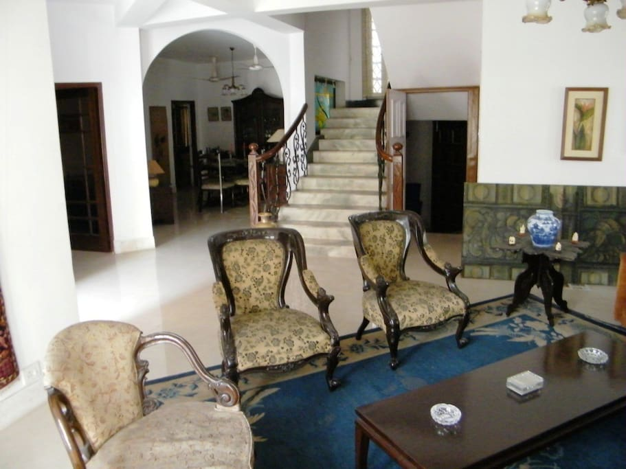 View of Main Living and Dining Room on Ground Floor, Suite 1