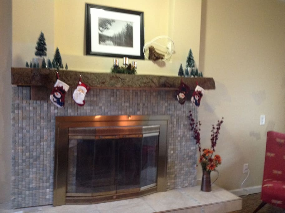 Nothing like a cozy fireplace to welcome you home!