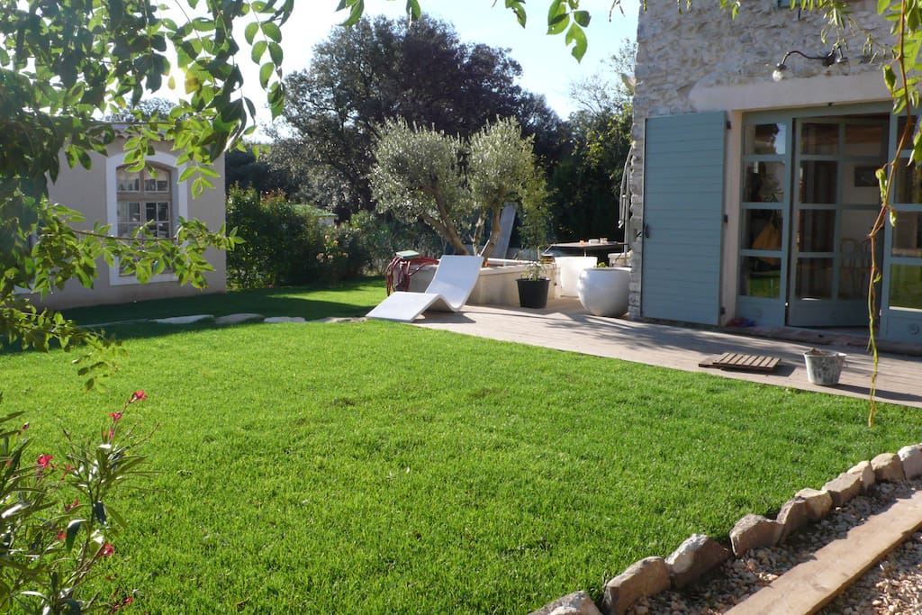 Large garden, terrace, guest cottage and village views