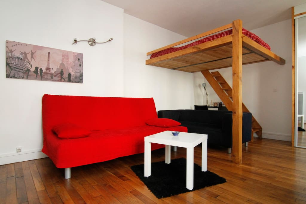Charming 30 m studio up to 4 people