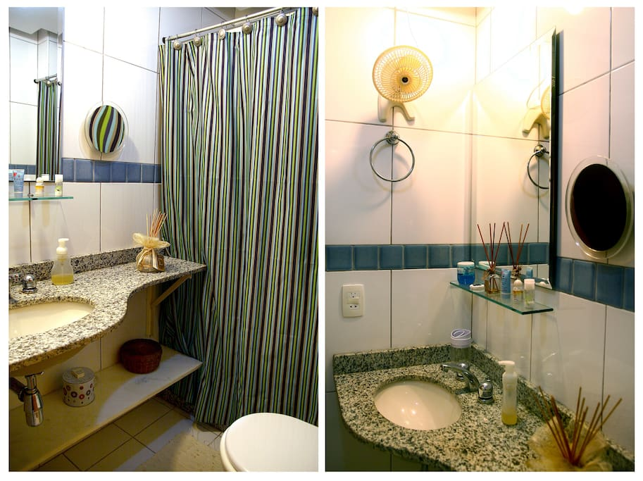 Two views of the second bathroom