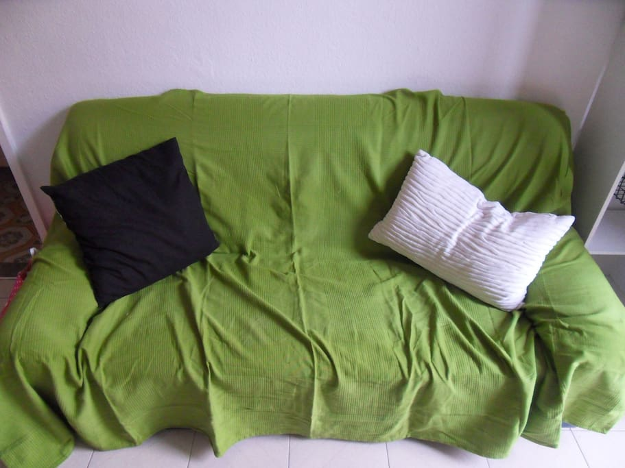 Couch to lie down after a long day of sightseeing in Barcelona!