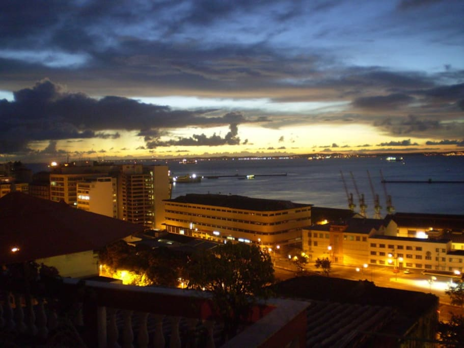 View from the balcony at night: Yes! This is an actual photo taken from the terrace by me:)