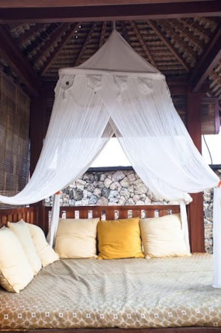 sit and read your favorite book in the day bed