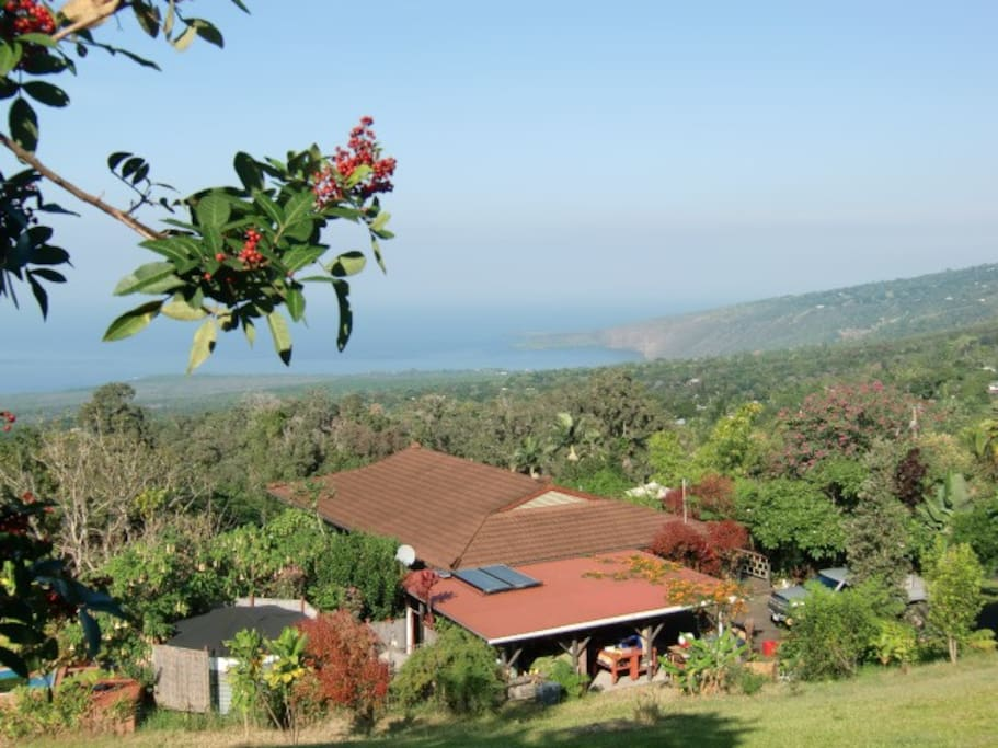 View from hill above Guest House.