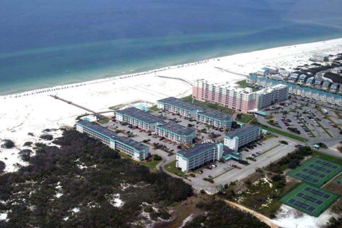 Overhead view of complex