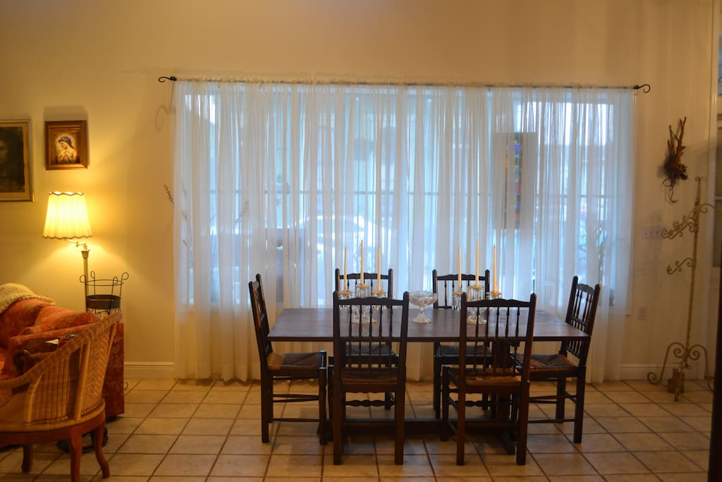 Dining - large, airy windows