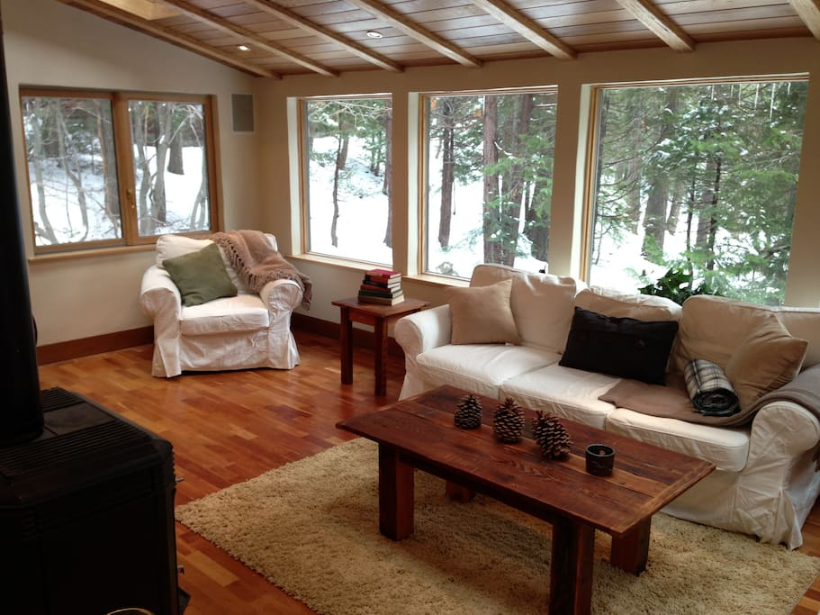 Living room, facing the forest