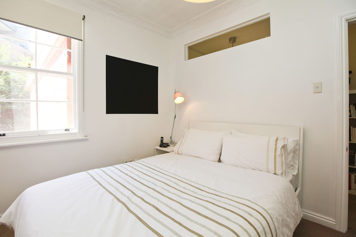 Bedroom1 - bright and sunny with reverse cycle air conditioner