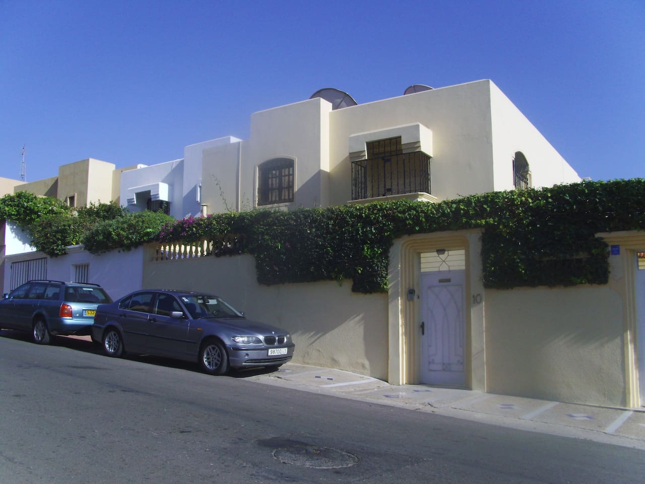 Outside view of the villa