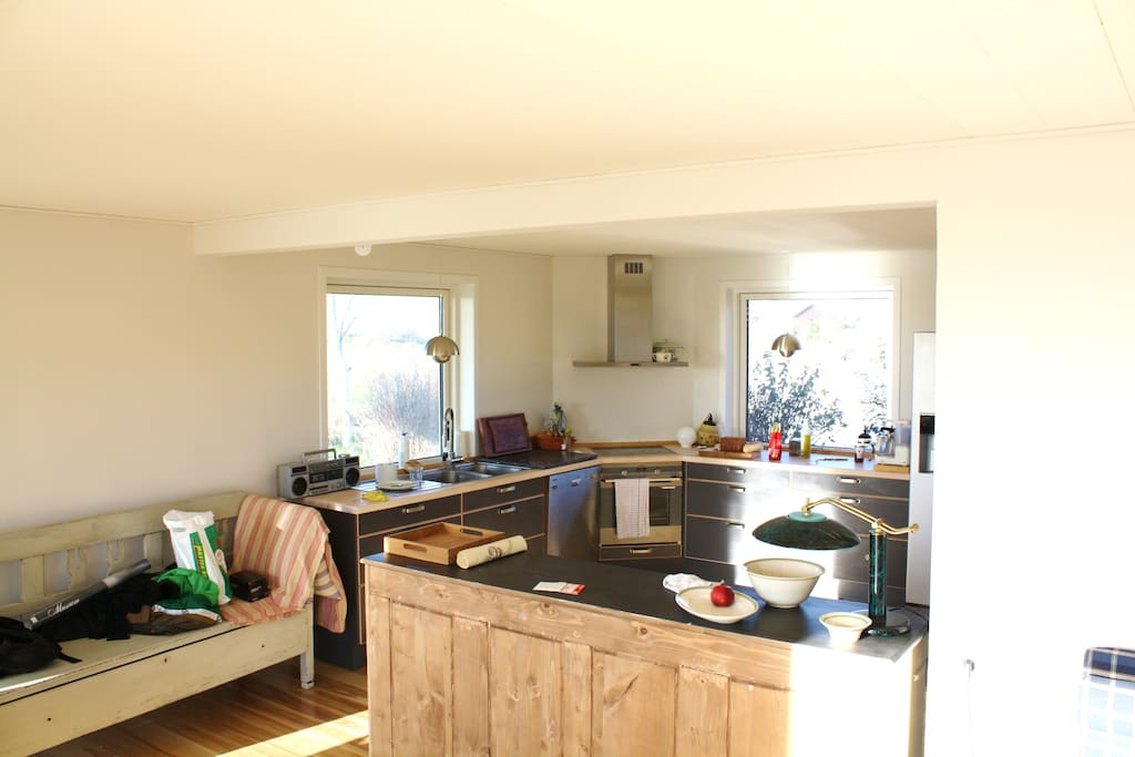 The kitchen on a summer day..