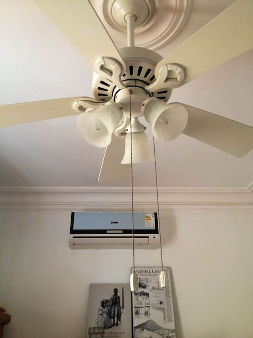 ceiling fan and air conditioning of the Cozy Bedroom