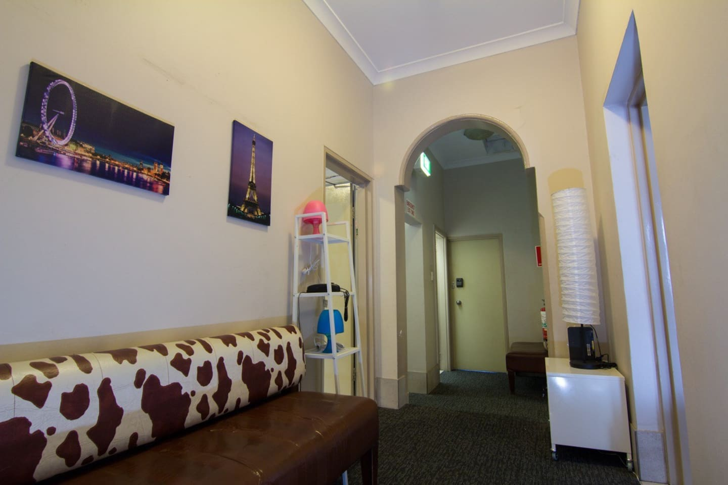 Crossroads Guesthouse - hallway and general area.