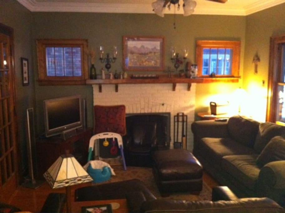 Living room - with gas fireplace