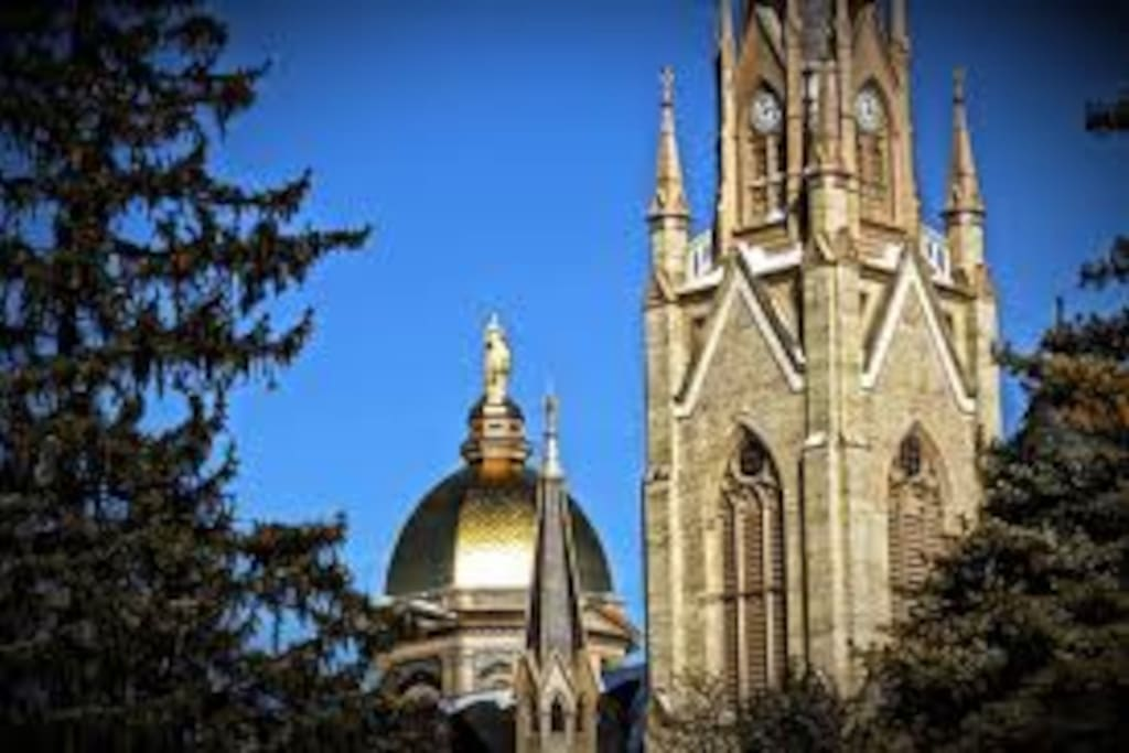 Walking distance to beautiful Notre Dame campus