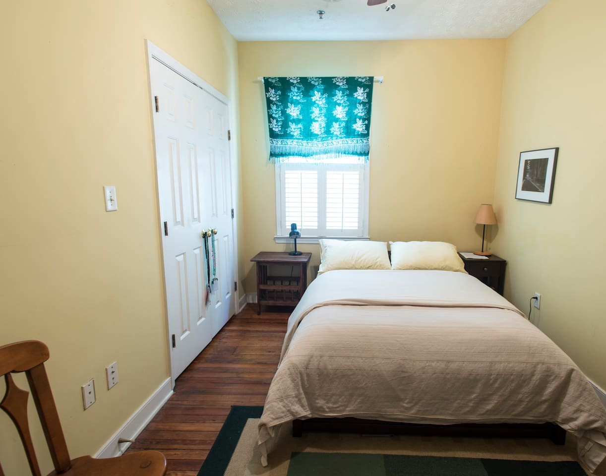 Your bedroom with full-size bed.