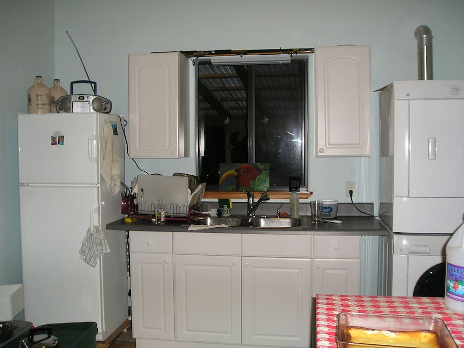 The north side of the kitchen