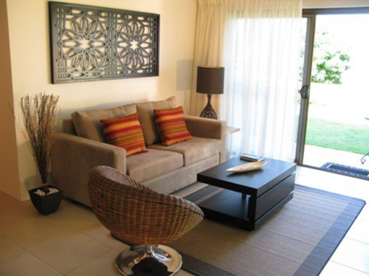 This is the lounge area looking out to the garden and ocean views