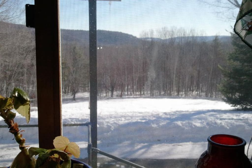 View from the dining room.  The sunrise over those mountains is gorgeous!