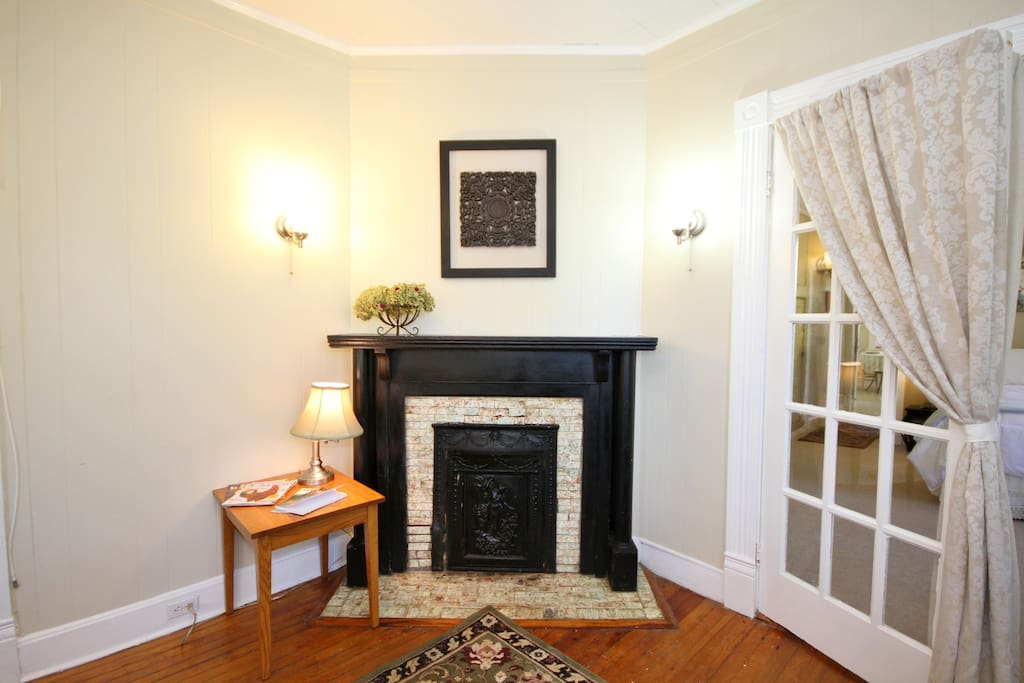 The fireplace once warmed the family who, over 100 years ago, built this home.