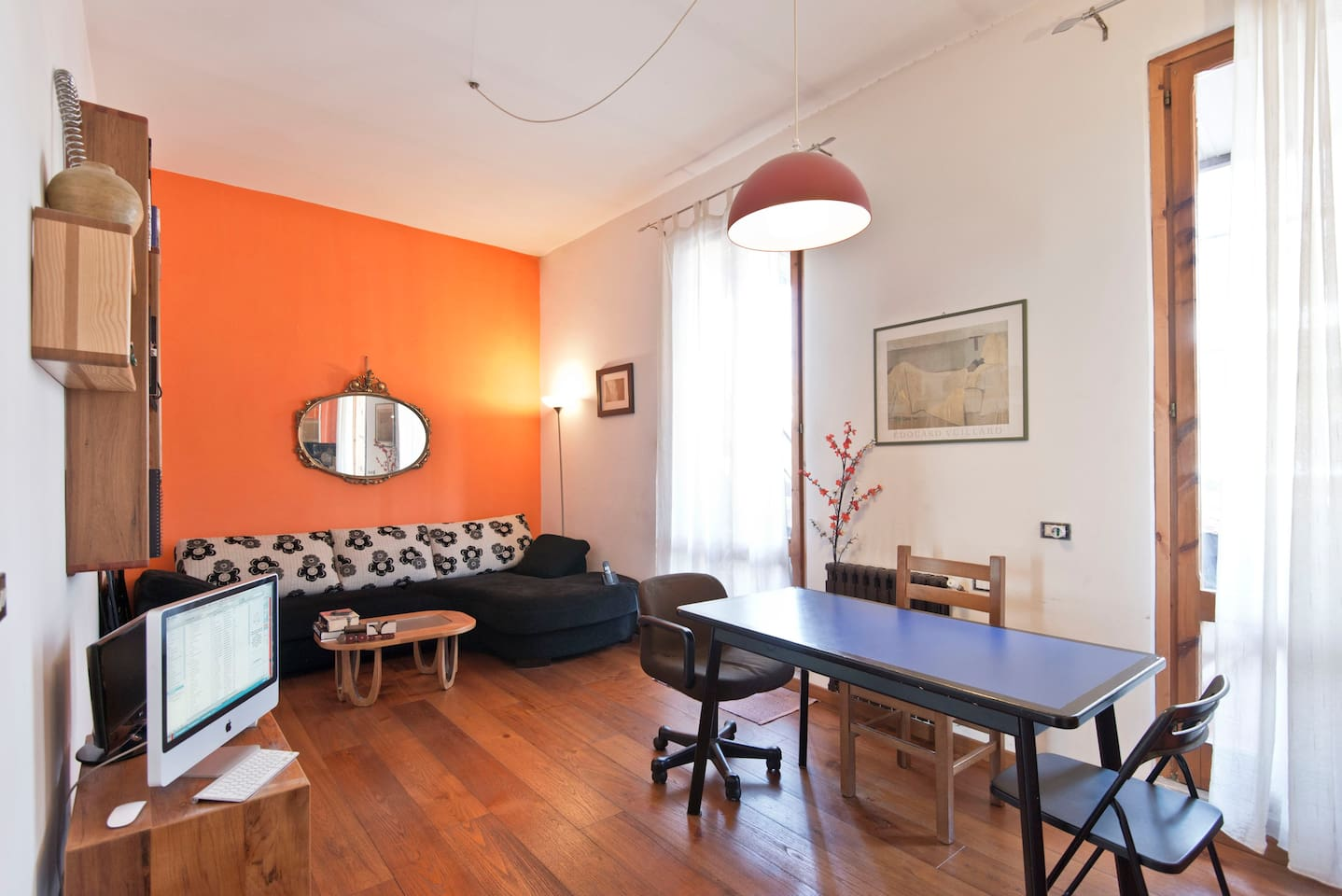orange house with very nice terrace