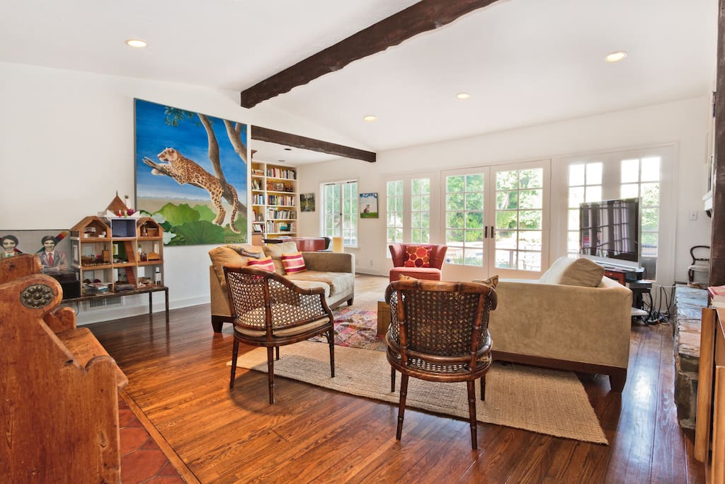 It's an artist home!  High ceiling, lots of light.