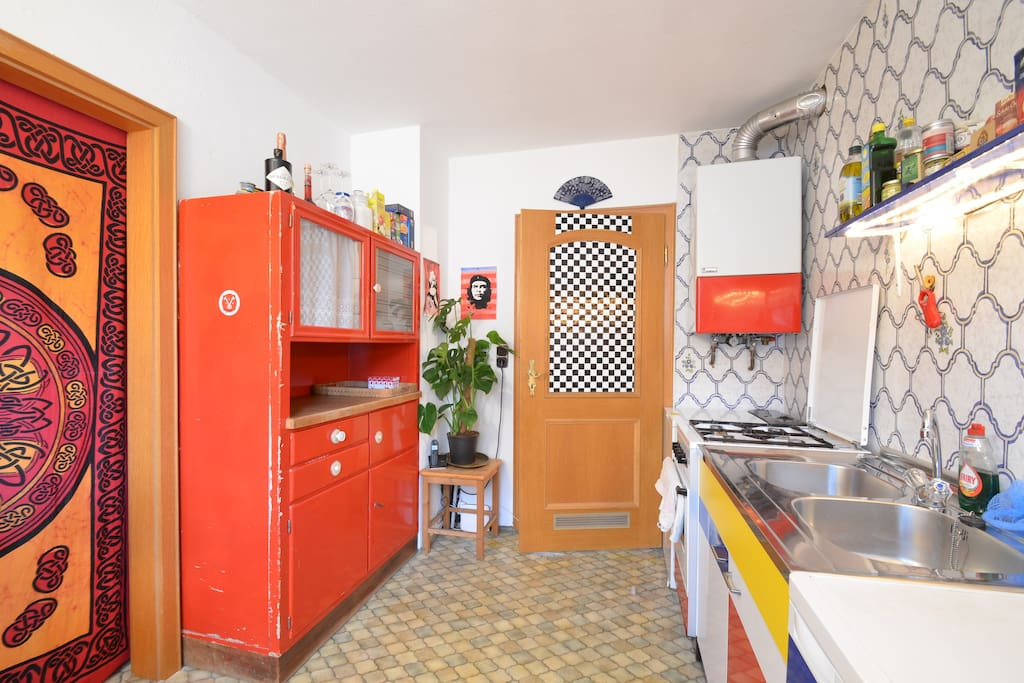 My beloved red kitchen cupboard used to belong to my grandmother