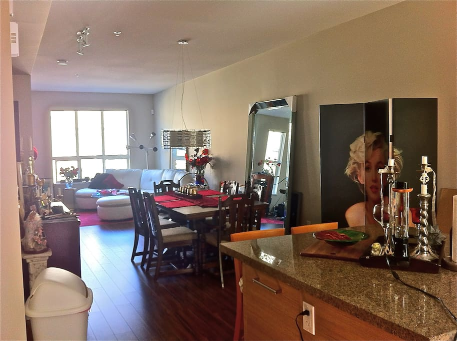 Our spacious living room and dinning area.