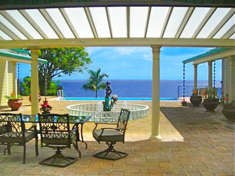 Whale Watch and Relax on the Ocean Front Lanai in the Mermaid Court.
