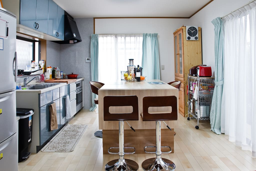 Loaded for gadgets, the kitchen is set for preparing practically anything you crave.