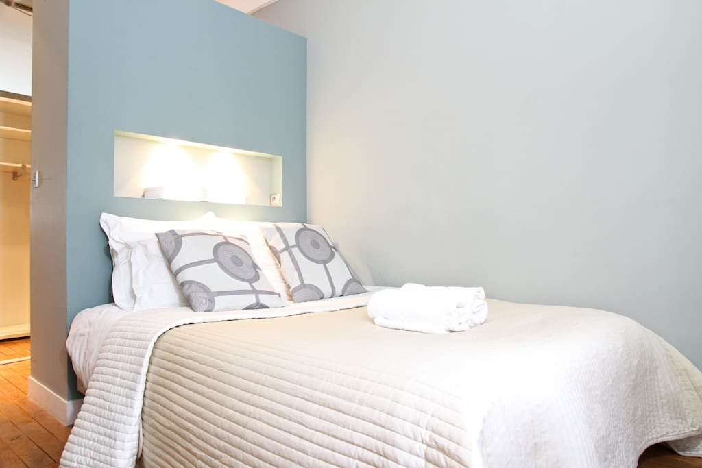 The bed is soft comfortable and will be freshly made up upon your arrival
