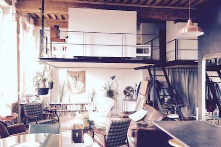 Agréable loft avec vue sur Lyon - Lione