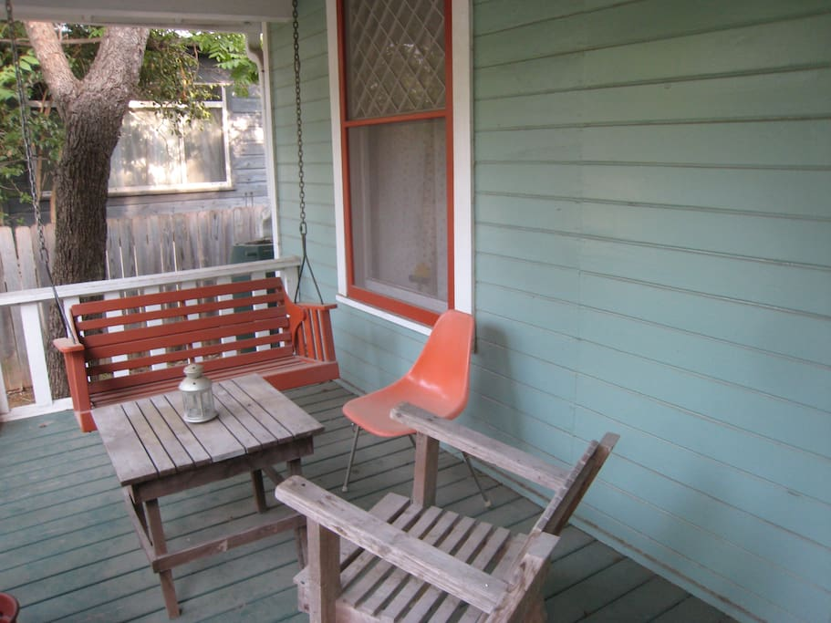 Hang-out area on the front porch.