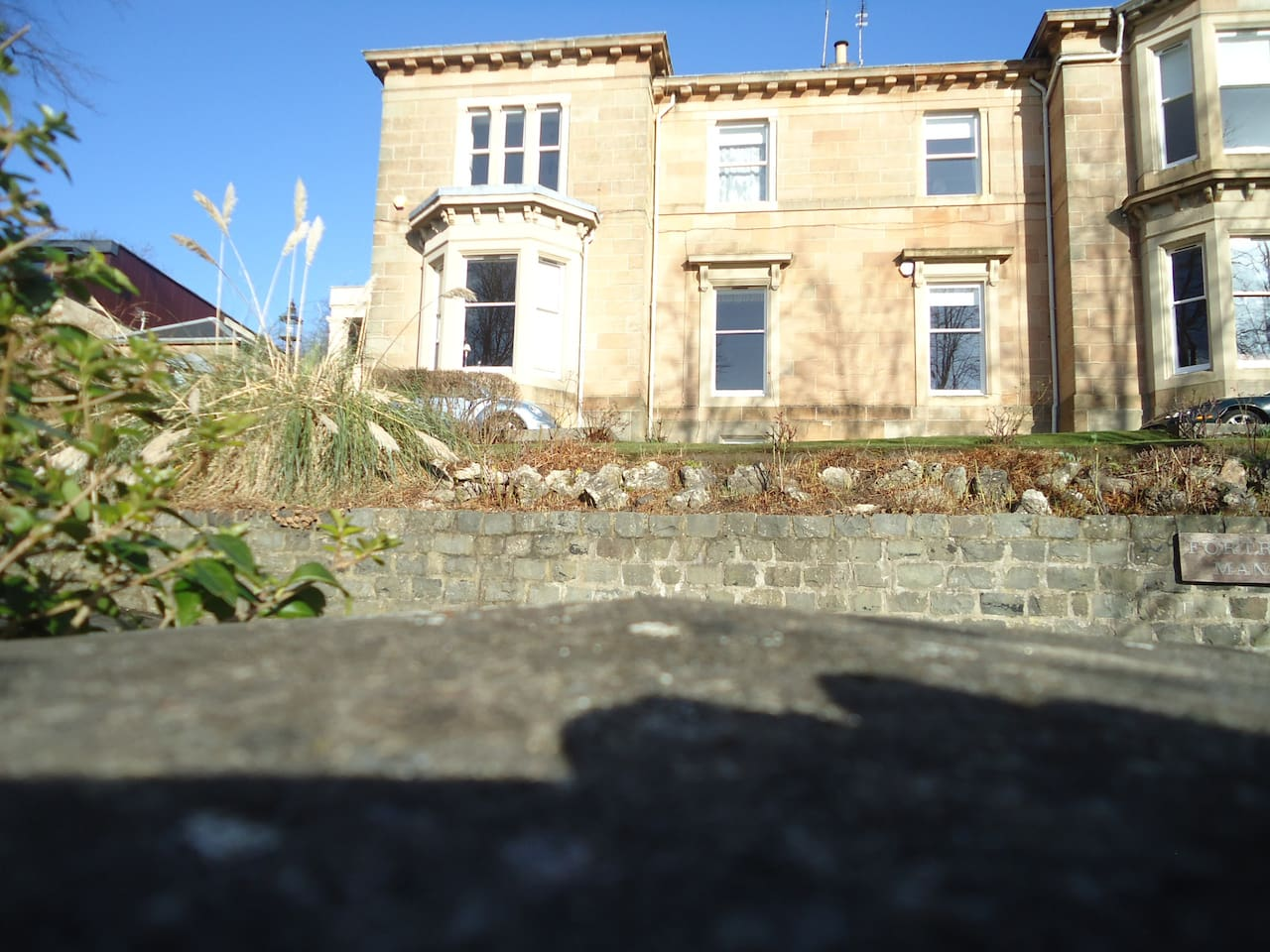 50 Fortrose Street- sunny exterior- bedroom at garden level, main apartment on 1st floor