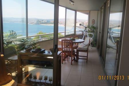 Depto en Viña del Mar con increíble vista al mar - Viña del Mar - Huoneisto